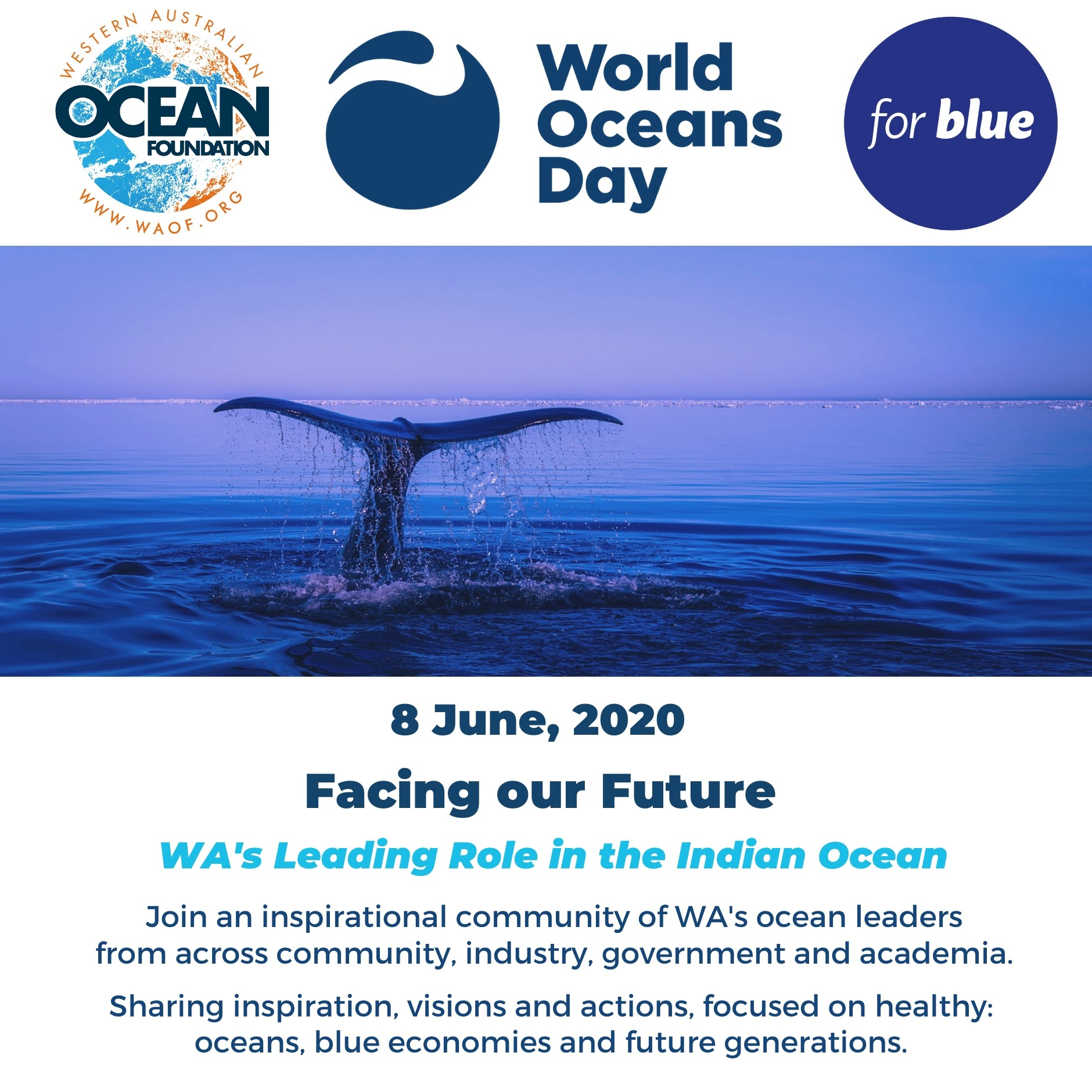 Wold Oceans Day 2020 For Blue